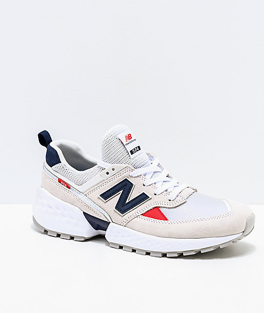 newest 90034 78c5d New Balance Lifestyle 574 Sport Nimbus Cloud and White Shoes