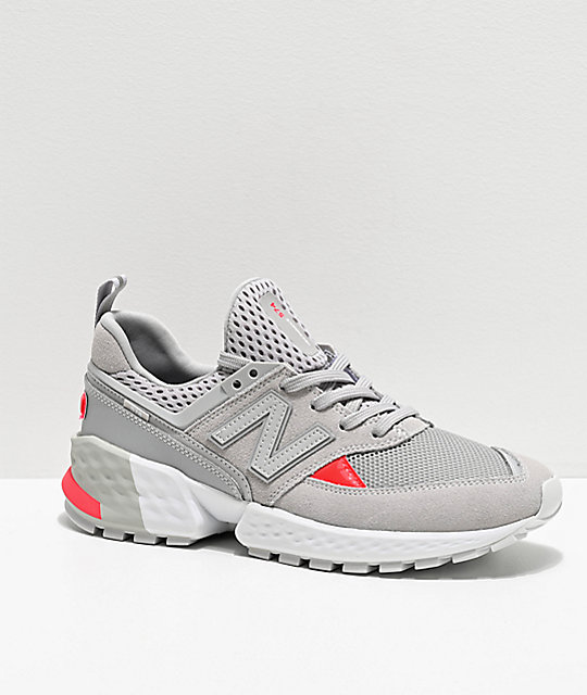 official photos f4ae2 cf15c New Balance Lifestyle 574 Sport Rain Cloud & Energy Red Shoes
