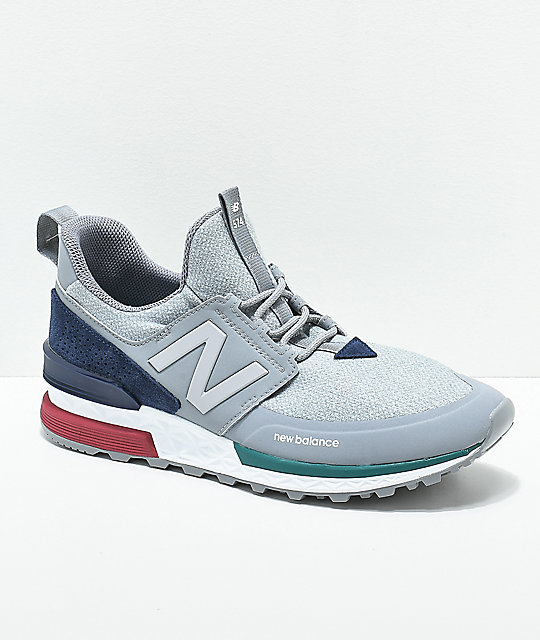 low priced 8a53e 4130e New Balance Lifestyle 574 Sport Steel & Pigment Shoes