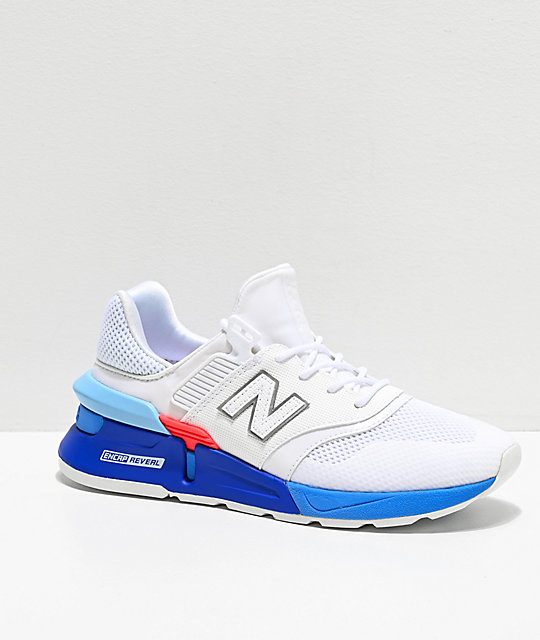 online store 68539 462d9 New Balance Lifestyle 997 Sport White & Summer Sky Blue Shoes