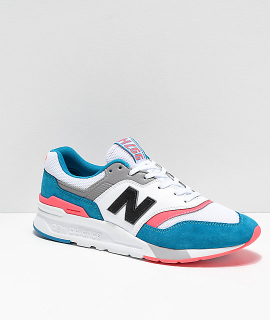 ee00dbcc89628 New Balance Lifestyle 997H Deep Ozone Blue, Guava & White Shoes | Zumiez