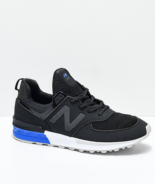 info for 3a8e6 63ff2 New Balance Lifestyle Kids 574 Sport Black, White & Blue Shoes