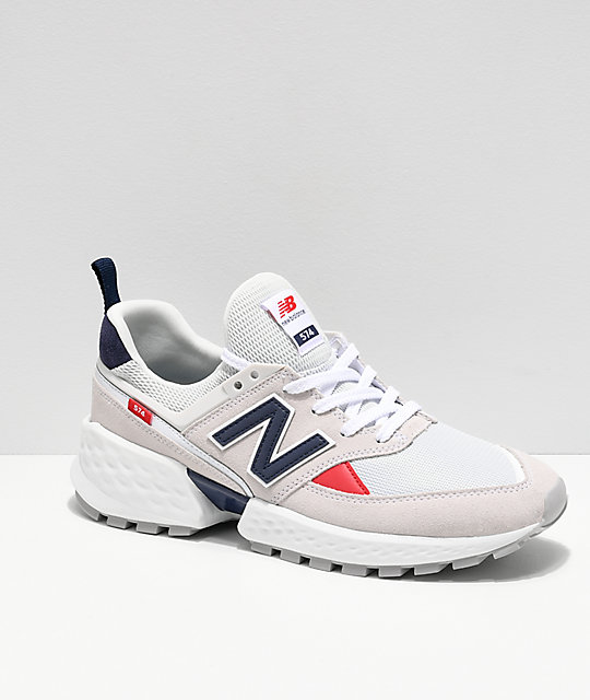 hot sale online 7756a 5922c New Balance Lifestyle Men's 574 Sport Nimbus Cloud & White Shoes