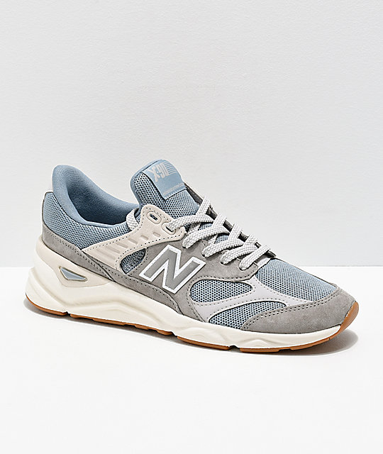 vente chaude en ligne 49c0f 1472b New Balance Lifestyle X90 Reconstructed Cyclone Blue & Marble Grey Shoes