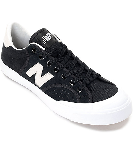 ca2cf19784416 New Balance Numeric 212 Pro Court Black & White Shoes | Zumiez