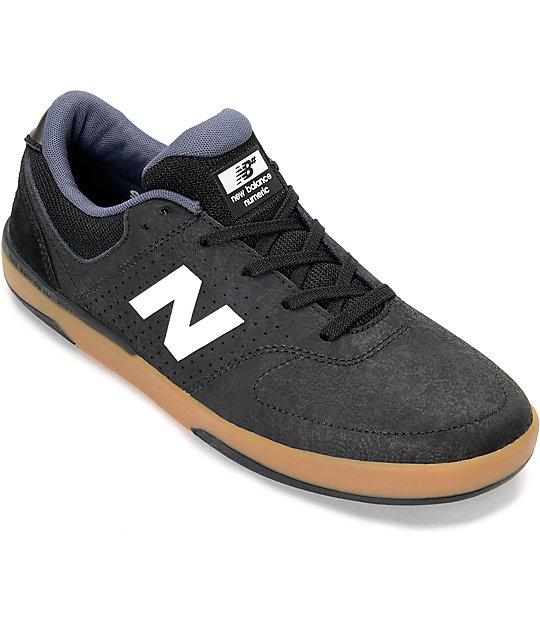 aa15e6b3a9d7b New Balance Numeric Stratford 533 Black, White & Gum Shoes   Zumiez
