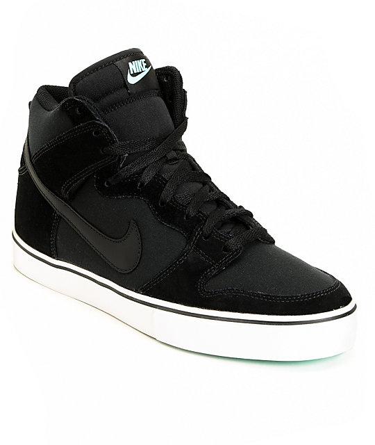 Nouveaux produits e8b09 c8a9a Nike 6.0 Dunk High LR Black & Tropical Twist Teal Skate Shoes