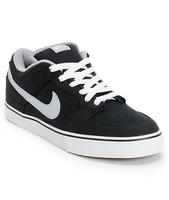 newest b7073 a200c Nike 6.0 Dunk Low LR Canvas Black, White & Wolf Grey Shoes ...