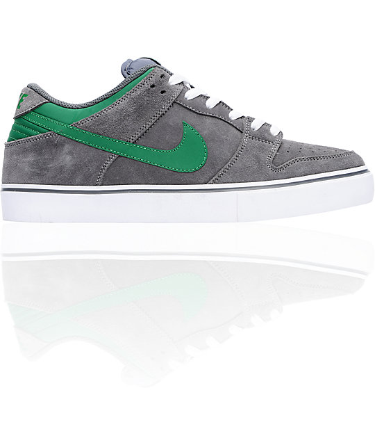 buy popular 36030 88c56 Nike 6.0 Dunk Low LR Grey & Pine Skate Shoes | Zumiez