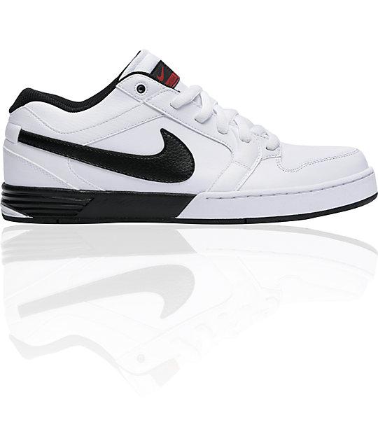 Nike 6.0 Zoom Mogan 3 Lunarlon White, Black & Red Shoes