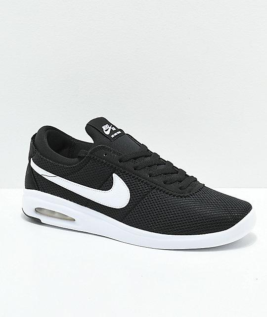 1d11fdc3f2 Nike Air Max Bruin Vapor zapatos skate en negro y blanco | Zumiez