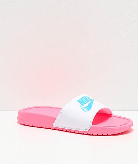 Pinkamp; Benassi Slide Nike Sandals White MpzLjSUVqG