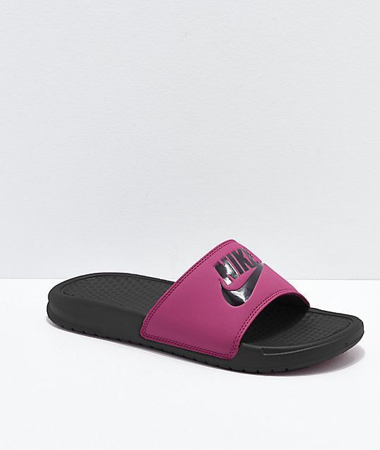 the latest 4db88 2a4ef Nike Benassi True Berry Slide Sandals