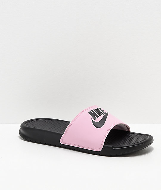 premium selection 40f3b 509e0 Nike SB Benassi Pink Foam & Black Slide Sandals