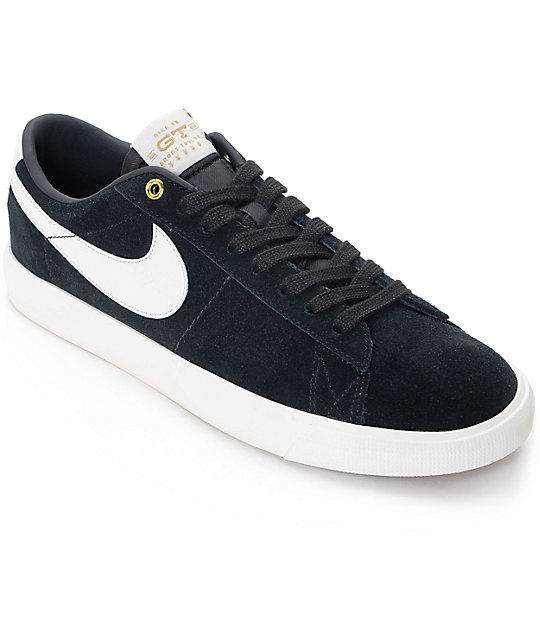 premium selection 1b445 c98b0 Nike SB Blazer Low GT Black & White Skate Shoes