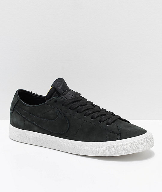 hot sale online 5e3ff 44ac8 Nike SB Blazer Zoom Low Deconstructed Black & White Skate Shoes