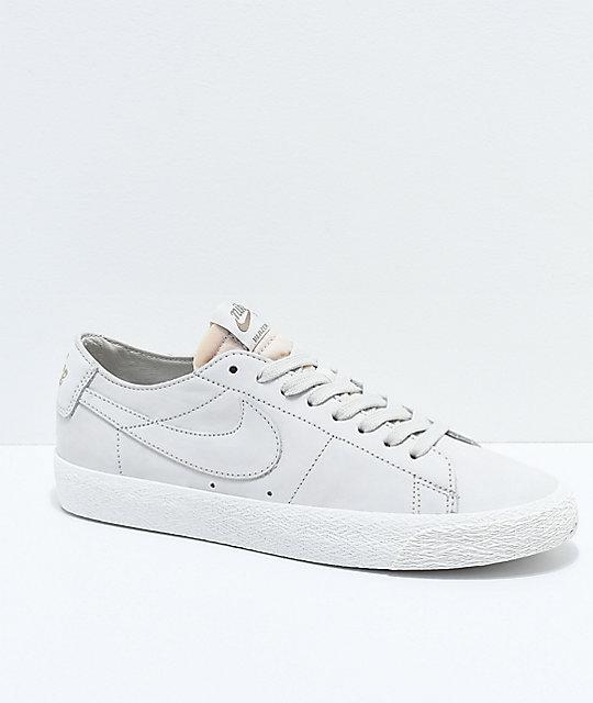 Nike SB Blazer Zoom Low Deconstructed Light Bone & White Skate Shoes