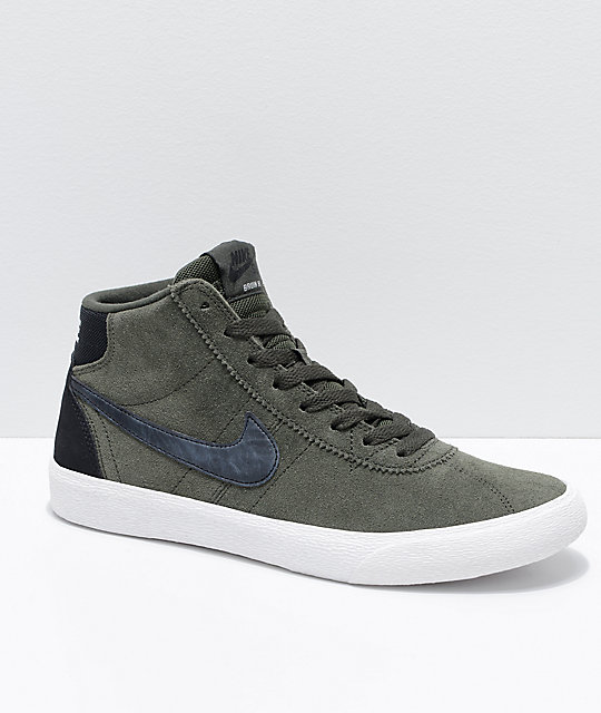 le dernier 776c2 72ba5 Nike SB Bruin Hi Sequoia & Summit White Skate Shoes