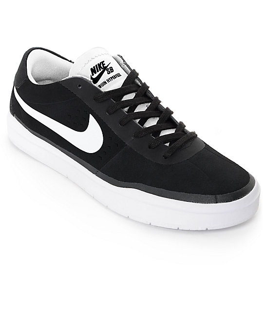 35aed543ee0 Nike SB Bruin Hyperfeel Black   White Skate Shoes