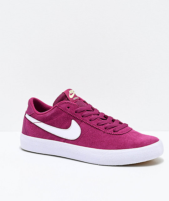 économiser bdf3c 13d62 Nike SB Bruin Low True Berry & White Skate Shoes