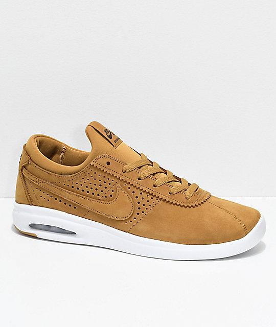 wholesale dealer 8d123 e37c5 Nike SB Bruin Vapor Air Max Wheat   White Leather Skate Shoes ...