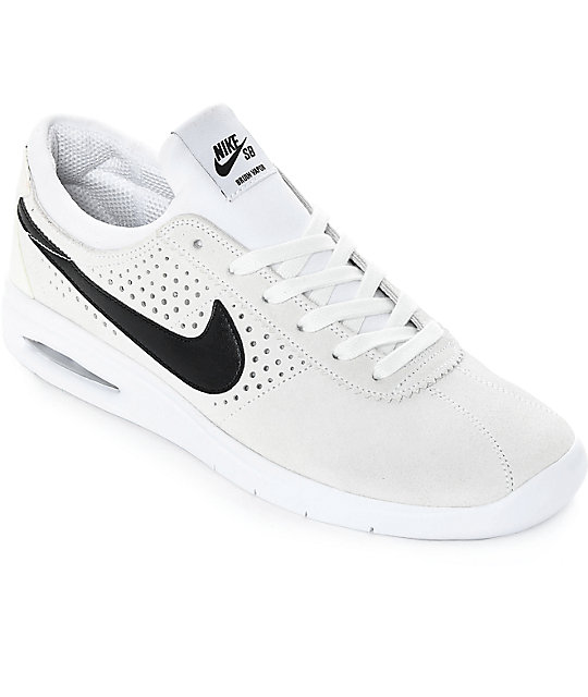 sélection premium acc21 166a4 Nike SB Bruin Vapor Air Max White & Black Skate Shoes