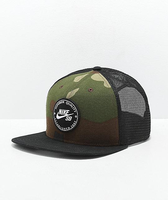 2c91d79e Nike SB Camo Patch Trucker Hat | Zumiez