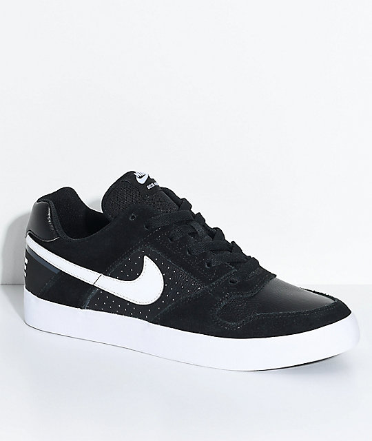 White Nike Sb Delta Blackamp; Skate Force Shoes kiuXPZ