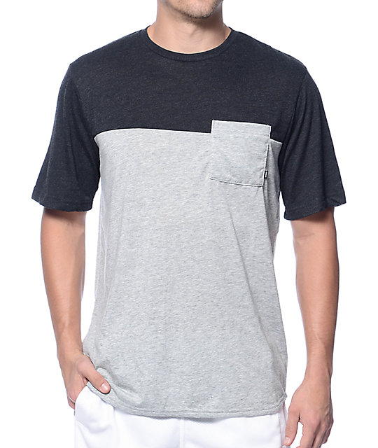 3a9ea9ca1 Nike SB Dri-Fit Blocked Grey Pocket T-Shirt | Zumiez