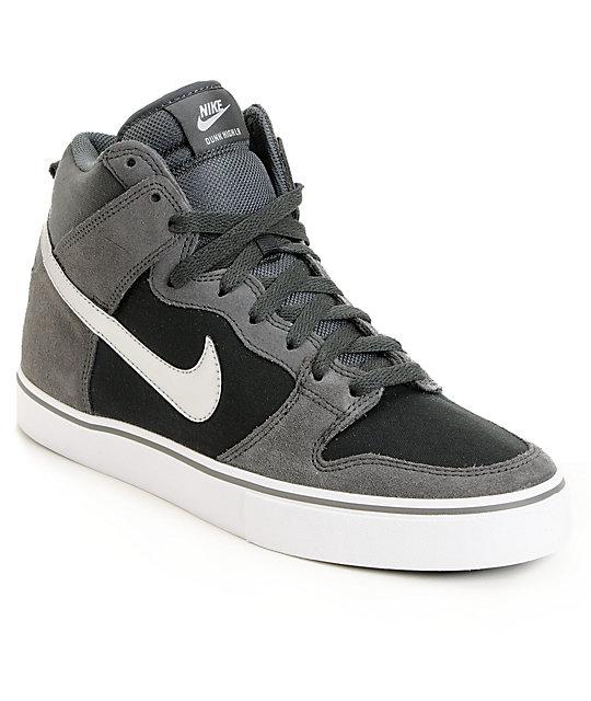 en soldes cb2a4 444e3 Nike SB Dunk High LR Anthracite & Metallic Silver Skate Shoes