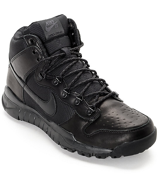 new photos 34257 c114c Nike SB Dunk High OMS All Black Shoes