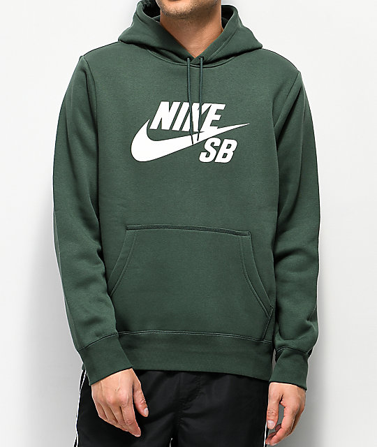 7e4d664f Nike SB Icon Midnight Green Hoodie | Zumiez