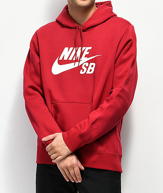 d5d3253c5 Nike SB Icon Red Hoodie | Zumiez