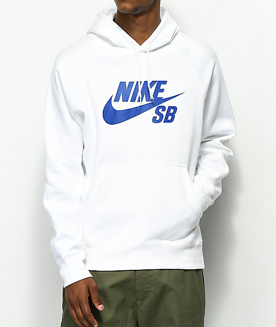 quality design abb1d b7f44 Nike SB Icon White Hoodie