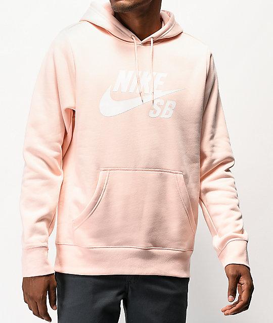 Nike Sudadera Con Icon Sb Capucha Claro Rosa ulF1TK3Jc