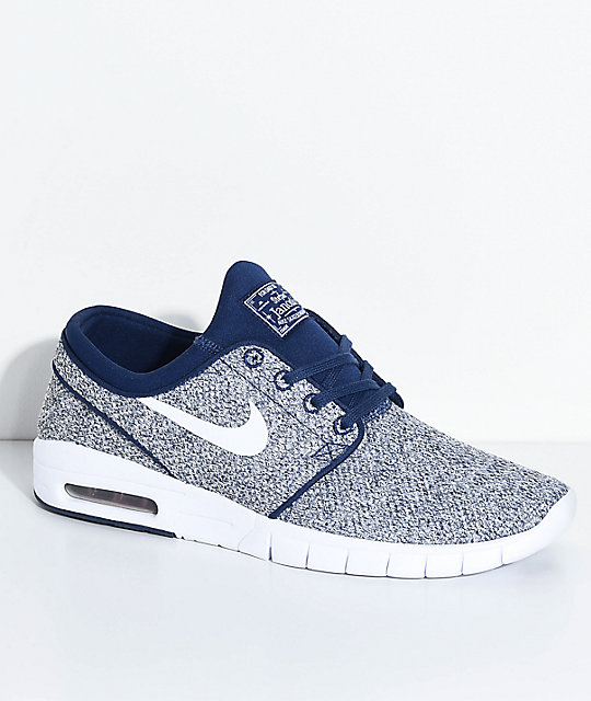 separation shoes 3aef5 2392f Nike SB Janoski Air Max Binary Blue   White Skate Shoes ...