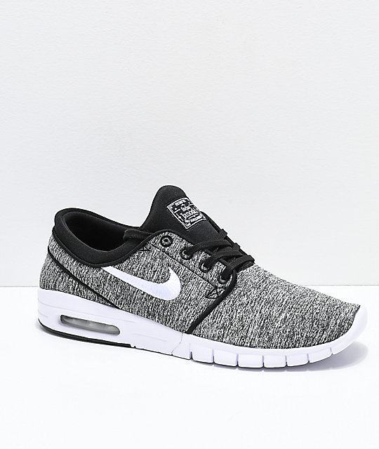 low priced 44fb4 3ff11 Nike SB Janoski Air Max Heather Grey Skate Shoes ...
