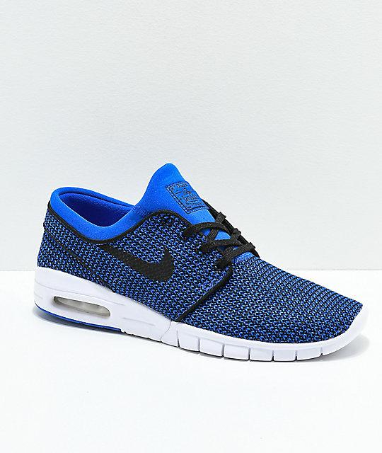 lowest price 49ab8 72e07 Nike SB Janoski Air Max Hyper Royal Blue & White Skate Shoes