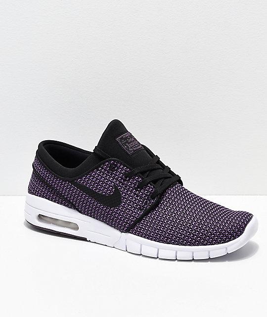 new arrival 1e659 bcd04 Nike SB Janoski Air Max Purple   White Skate Shoes ...
