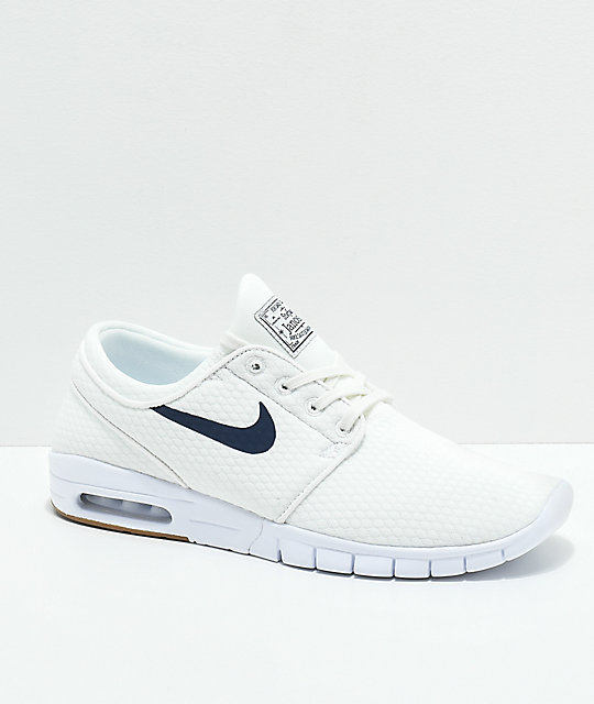 buy popular 0d441 09b52 Nike SB Janoski Air Max Quilted Summit White   Thunder Blue Skate Shoes ...