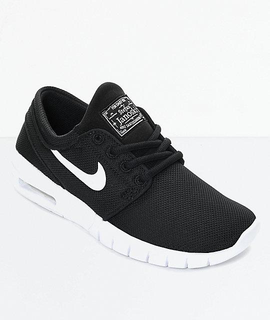 Para Niños Janoski Negro Blanco Nike Sb Max Skate Y Zapatos De En strChQd