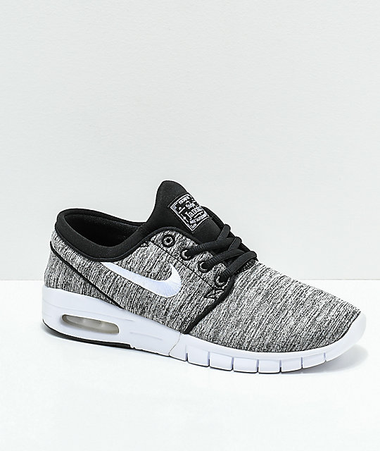 sale retailer 90bce 0a7c9 Nike SB Kids Janoski Max Heather Grey Skate Shoes ...