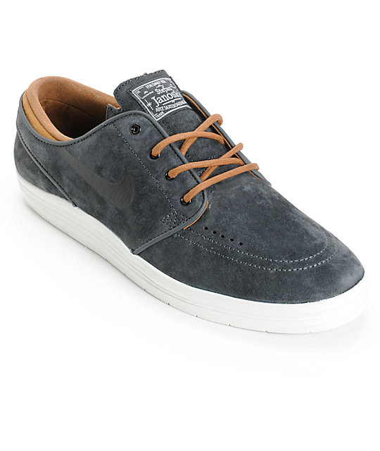 new product abbaa 966d3 Nike SB Lunar Stefan Janoski Anthracite   Ale Brown Skate Shoes ...