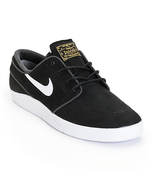 promo code 0d856 e7aee Nike SB Lunar Stefan Janoski Black   White Skate Shoes ...