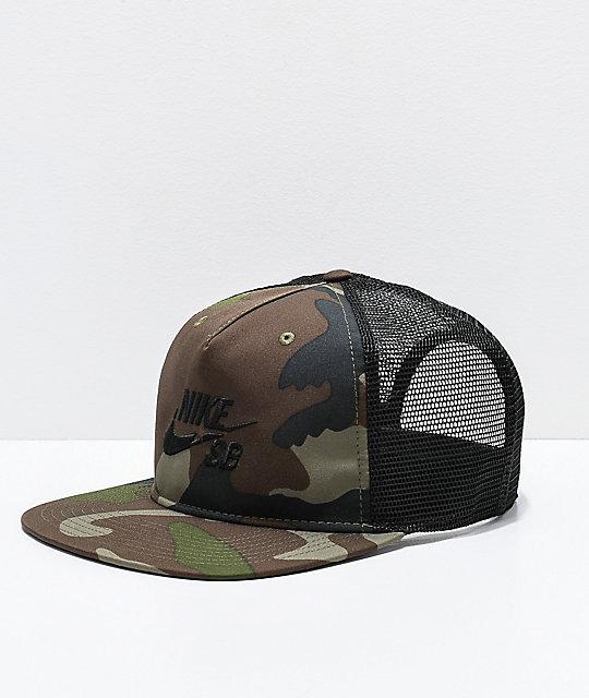 bfacb719 Nike SB Pro Camo Trucker Hat | Zumiez