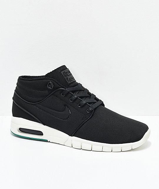 Nike SB Janoski Max Mid zapatos de skate en blanco y negro