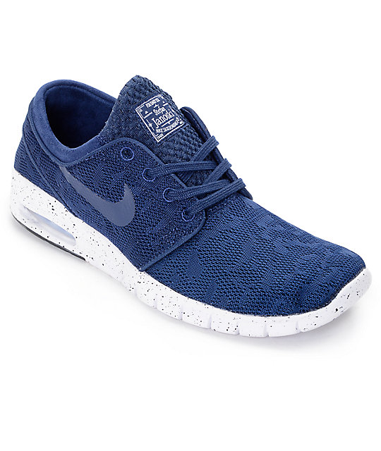 quality design e7c37 701c5 Nike SB Stefan Janoski Air Max Midnight Navy   White Mesh Skate Shoes ...