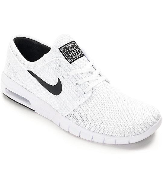 f25bd8c937 Nike SB Stefan Janoski Air Max White & White Shoes   Zumiez