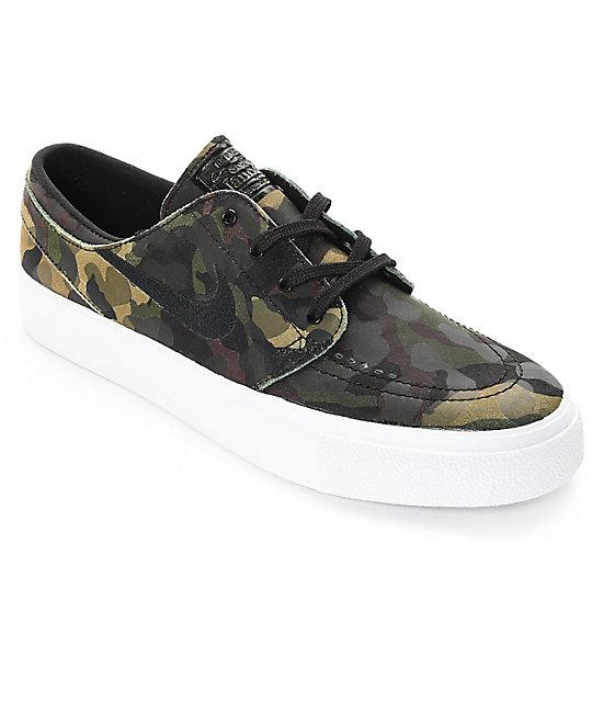newest 8f977 d3fd9 Nike SB Stefan Janoski Premium High Tape Camo   White Skate Shoes ...