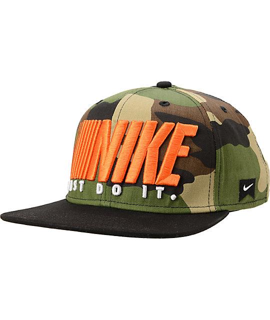 d05430f6 Nike SB Step And Repeat Camo Snapback Hat | Zumiez